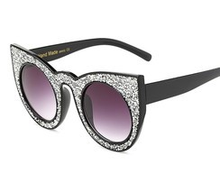 Cat Eye Luxury Rhinestone UV400 Women Sunglasses Vintage Retro S Eyewear... - $12.86