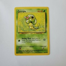 Pokemon Base Set 1999 Caterpie Card LP 45/102 TCG Trading Card Game Unlimited - $1.24