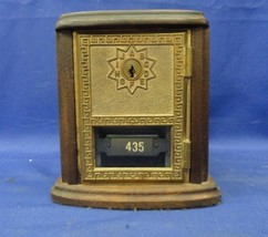 Antique US Post Office Box Bank with Solid Eagle Brass Lock on Walnut - $38.00