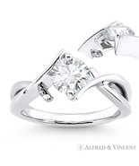 Forever ONE D-E-F Round Cut Moissanite 14k White Gold Solitaire Engageme... - €452,65 EUR+