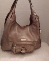 Michael Kors gold large leather hobo bag purse - $59.40