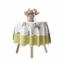 """Nice Shabby Chic French Country Farmhouse 60"""" Round Green Butterfly Tabl... - $49.00"""