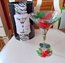 "Lolita ""Holiday Bouquet""  7 oz. martini glass - $15.00"