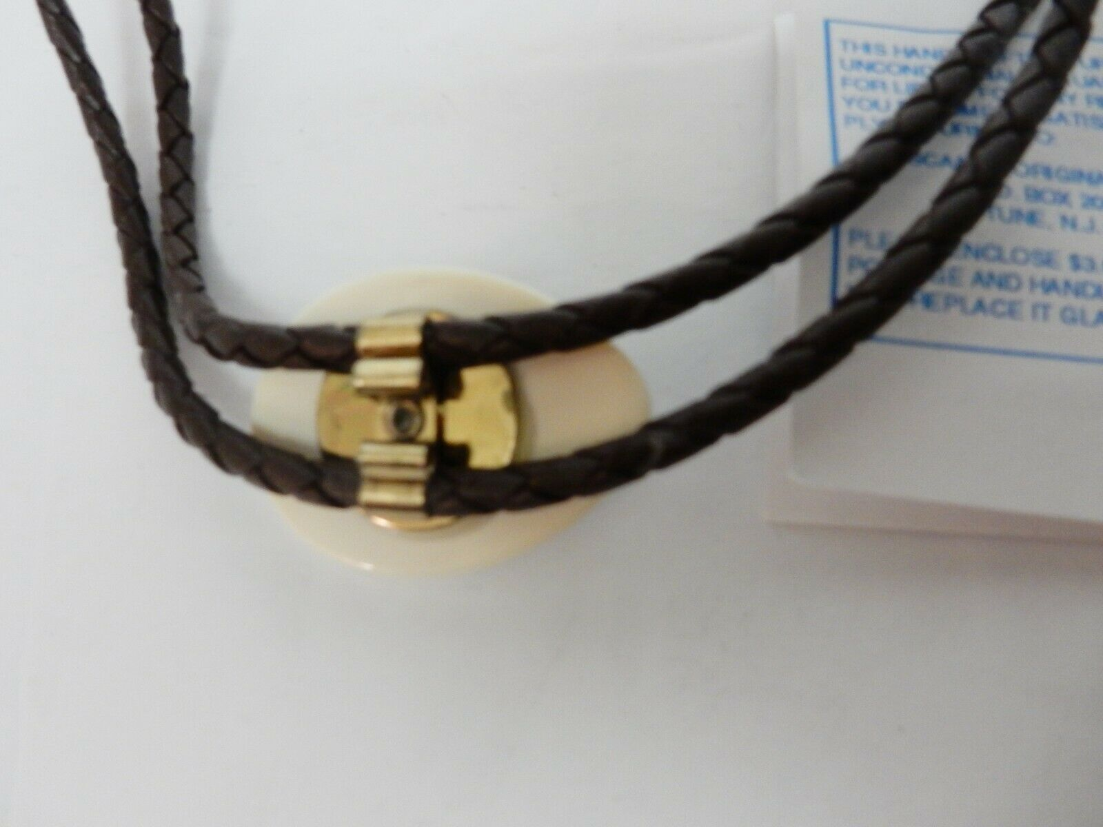 Bolo Tie Tips Gold Plated Heavy Ridged Ball Style 25mm Long Pk//10