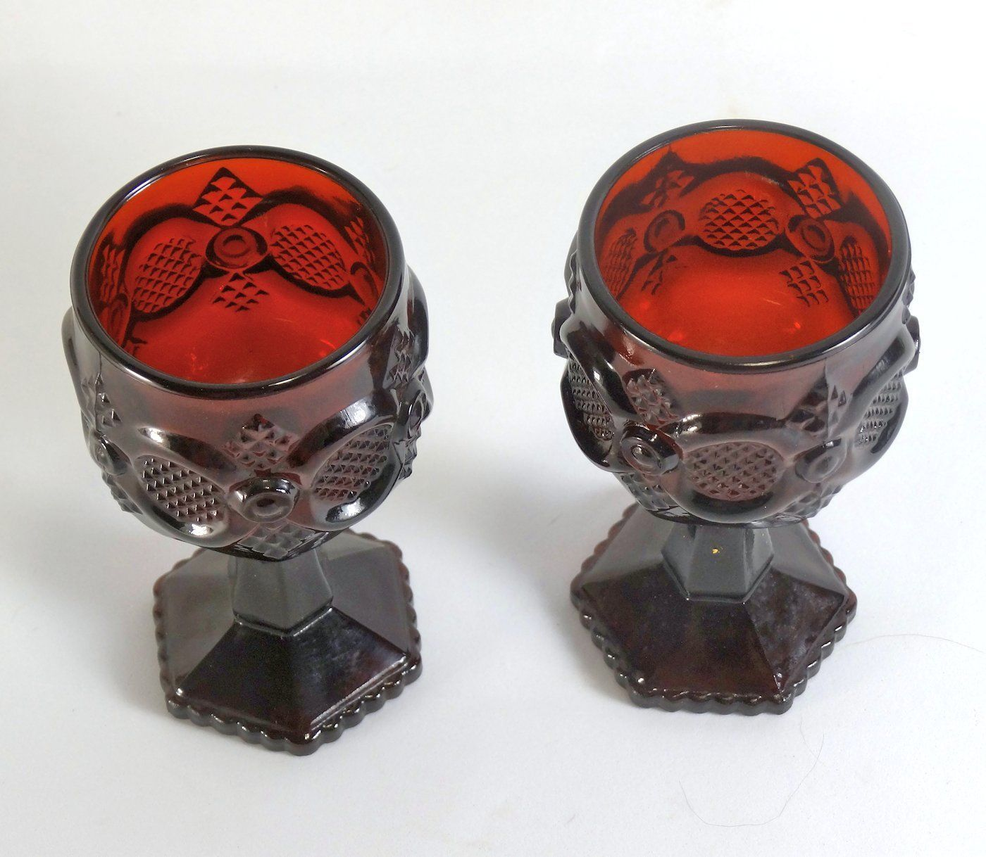 Avon Cape Cod Royal Ruby 4 1/2 Inch Goblet Pair image 2