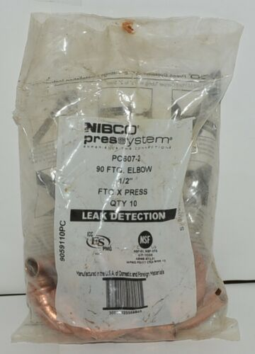 Nibco 9059110PC PC607 2 Wrot Copper 90 Degree Fitting Elbow 1/2 Inch