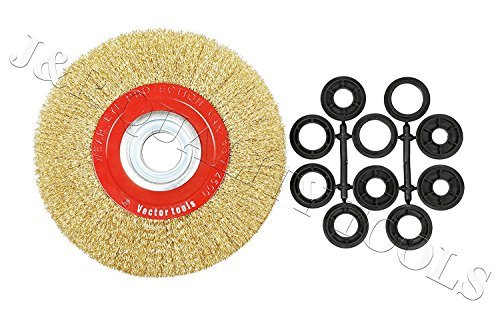8 Quot Inch Round Brass Plated Steel Wire Brush Wheel For