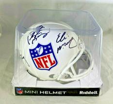 ARCHIE, PEYTON & ELI MANNING / TRIPLE AUTOGRAPHED NFL LOGO MINI HELMET / STEINER image 10