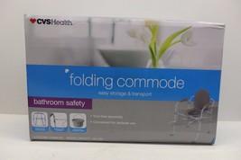 Folding Commode CVS Health Brand, Fast Assembly, Easily Folds, Capacity ... - $44.99