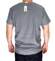 NEW DIESEL MEN'S PREMIUM COTTON GRAPHIC V-NECK SHIRT T-SHIRT T-TOSSIK DARK GREY image 4