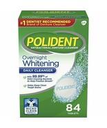 Polident Overnight Whitening Denture Cleanser Tablets, 84 Ct - Exp 09/26... - $13.98