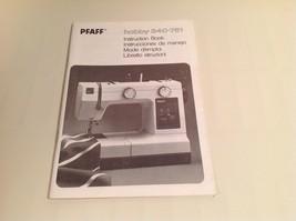 Instruction book Pfaff Hobby 340-751 - $11.98
