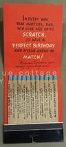 vintage HALLMARK GREETING CARD unused MATCH STICKS rare BIRTHDAY DAD signed - $64.95