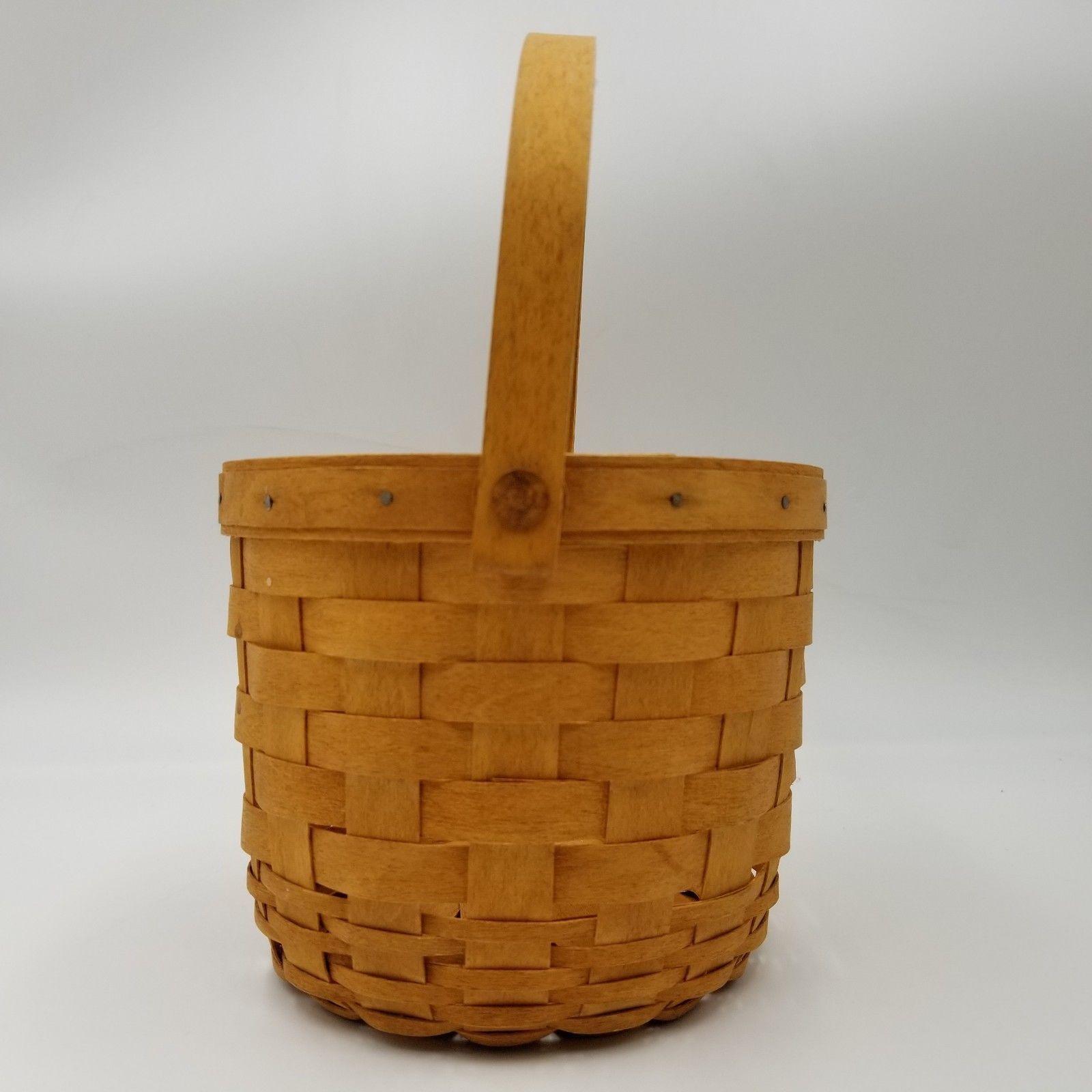 Longaberger Baskets Small Fruit Basket Vintage Handwoven Signed 1993 MLC 544