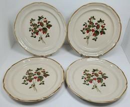 International Endura La Fraise Dinner Plates Stoneware JAPAN Strawberry ... - $39.97