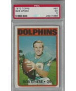 1972 Topps #80 Bob Griese PSA 5 Dolphins  - $19.75