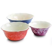 MEGA-123305.03 Urban Market Life on the Farm 3 Piece Scalloped Stoneware... - $45.27