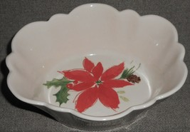 Lenox Winter Meadow Poinsettia Pattern Candy Dish HOLIDAY-CHRISTMAS - $19.79