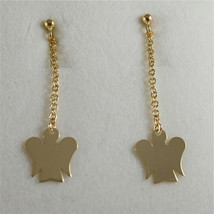 9KT YELLOW GOLD EARRINGS ANGELS PENDANT MADE IN ITALY ROBERTO GIANNOTTI NKT159G image 1