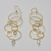 925 STERLING SILVER GOLD PL PENDANT EARRINGS WITH CIRCLES BY MARIA IELPO ITALY image 4