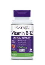 Natrol Vitamin B12 Fast Dissolve Tablets, Promotes Energy, Supports a Healthy Ne image 10