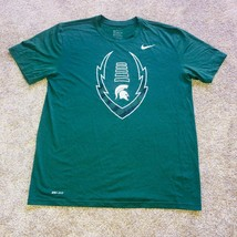Nike Dri Fit Michigan State Spartans Cross Fit Workout Tee Shirt Mens Si... - $19.79