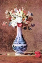Still Life of Flowers in a Vase by Jean Chardin - Art Print - $19.99+