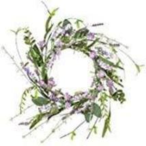 "Sullivans Artificial Lavender Candle Ring Wreath, 12"" image 1"