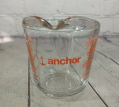 Vintage ANCHOR HOCKING Red Letters Open Handle 1 Cup Measuring Cup 8 oz ... - $14.84