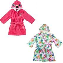 Nautica Girls' Hooded Terry Velour Swim Cover-up Beach Robe - $24.99