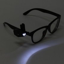2x Clip On Universal Flexible Reading Lights Night For Eyeglass LED Port... - $8.49
