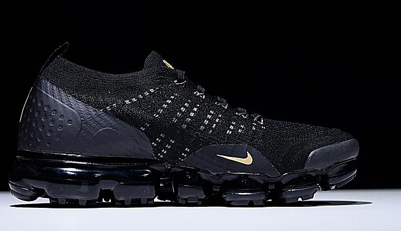 Nike Air Vapormax Flyknit 2.0 Men's Running Shoes Black/Gold