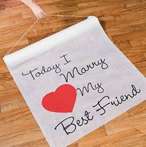 100 Ft TODAY I MARRY MY BEST FRIEND Wedding Aisle Runner Long Bridal Hea... - $37.35