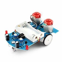 WHDTS Smart Car Soldering Project Kits Line Following Robot Kids DIY Ele... - $10.14