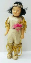 Vintage Native American Indian Doll Hand Painted  - $39.95