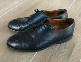 Cole Haan City Men's Sz 12 D Black Leather Split Toe Lace Up Oxford Derby Shoes - $29.95