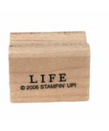 Stampin Up Stamp Word Life Card Making Craft Uplifting Sentiment Inspiration Art - $2.99