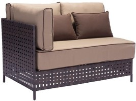 ZUO Pinery Right Arm Patio Chair with Beige Cus... - $1,156.02