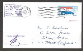 1981 Paquebot Cover South Africa stamp used in Tampa, Florida (Jul 28) - $5.00