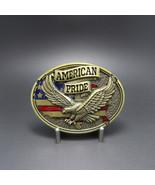 Bronze Plated Western American Pride Eagle Flag Oval Belt Buckle Stock i... - $8.19