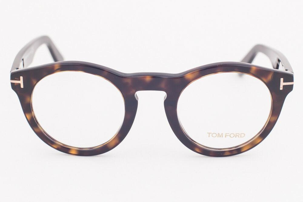 Tom Ford 5459 052 Dark Tortoise Round Eyeglasses TF5459 052 48mm