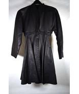 Vintage ALAIA 2 -in-1 Black Leather Bolero Fishtail Coat Dress 38 Womens - $4,950.00