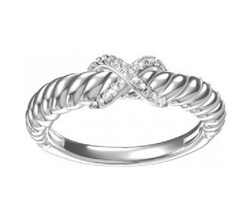 14k White Gold Plated 925 Silver Round Cut Diamond Fancy Engagement Band Ring 7 - £37.90 GBP