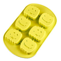 6 Cups Halloween Pumpkin Silicone Baking Cake Mold Cookie Candy Chocolat... - $14.54