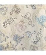 Scrubs Scrub Top Size L Scrubs Swirls Tie Back Black Tan Turq Mar Poly B... - $14.80