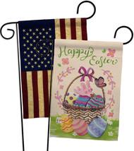 Happy Easter Colourful Basket Eggs - Impressions Decorative USA Vintage - Appliq - $30.97