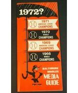 1972 Baltimore Orioles Baseball Media Press-Radio-TV Guide - $14.85