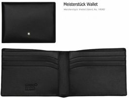 MontBlanc Men's Meisterstuck Black Leather Wallet 6cc #14548 image 6