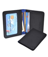 Mens Slim RFID Genuine Leather Small Bifold Front Pocket Wallets ID Wind... - $24.27