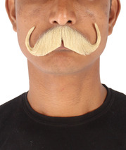 Men's Stylish Mustache Set   Blonde Cosplay Facial Hair M-1303 - £14.96 GBP
